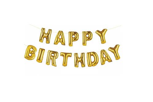 """Guirlande lettres ballons  """"Happy birthday"""""""