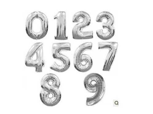 Ballon en forme de chiffre