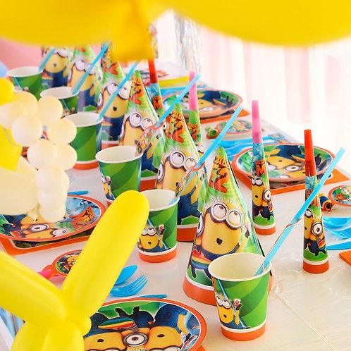 """Pack anniversaire pour 10 personnes """"MINION"""""""