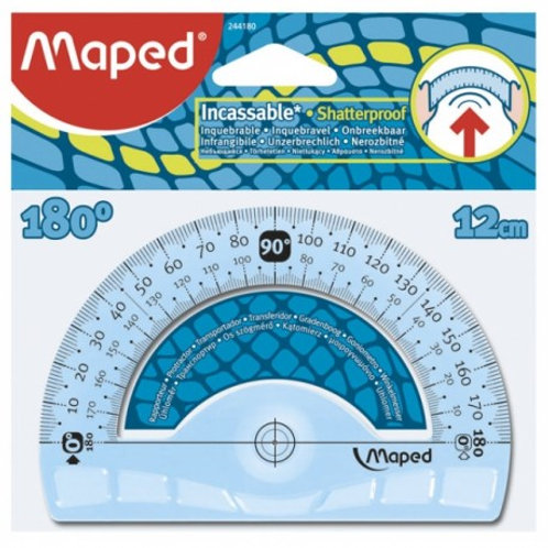 Maped Rapporteur Incassable Flex - 180°/12 cm