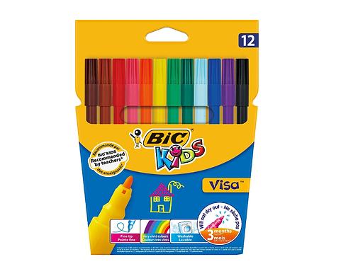 12 feutres de coloriage -BIC KIDS- VISA