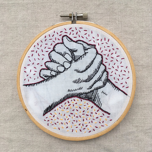 """Solidarity handshake 5"""" SOLD"""