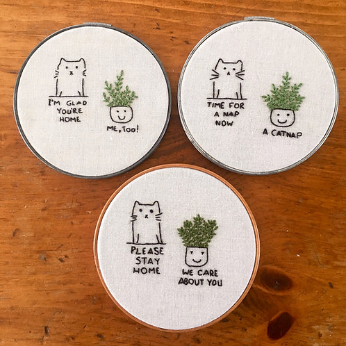 Kitty & plant series - Not for sale