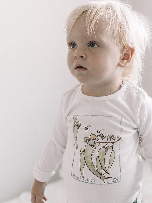 May Gibbs Gumnut print long sleeve baby top