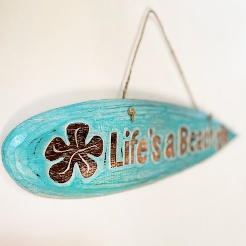 Life's a Beach - wooden wall sign