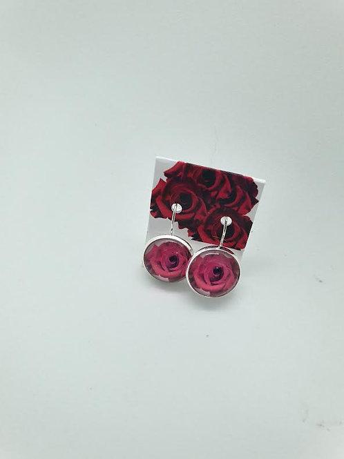 Full Bloom Red Rose earings