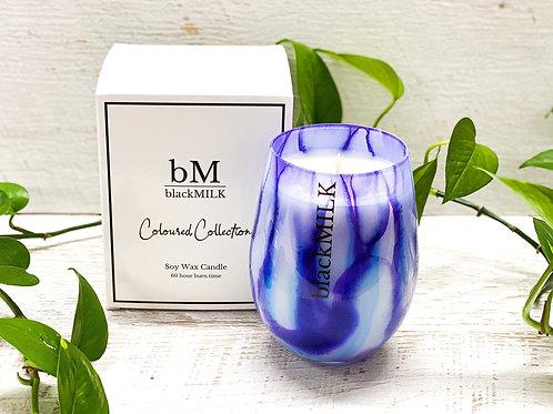 Candle - Watercolour Blue-Violet – Sea Salt + Moss