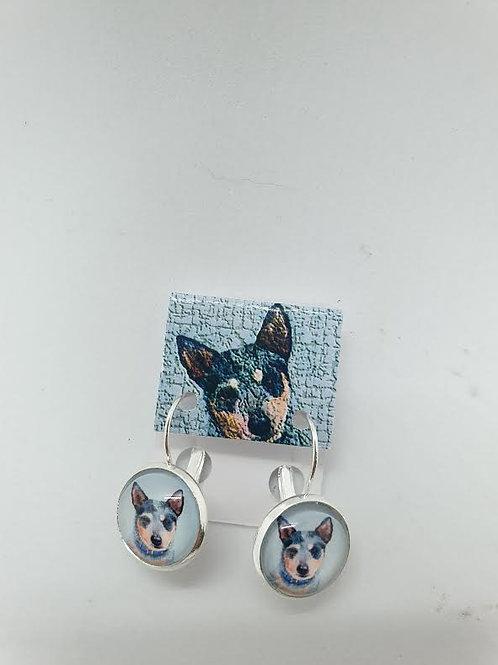 Cattle Dog Earings (pierced ear)