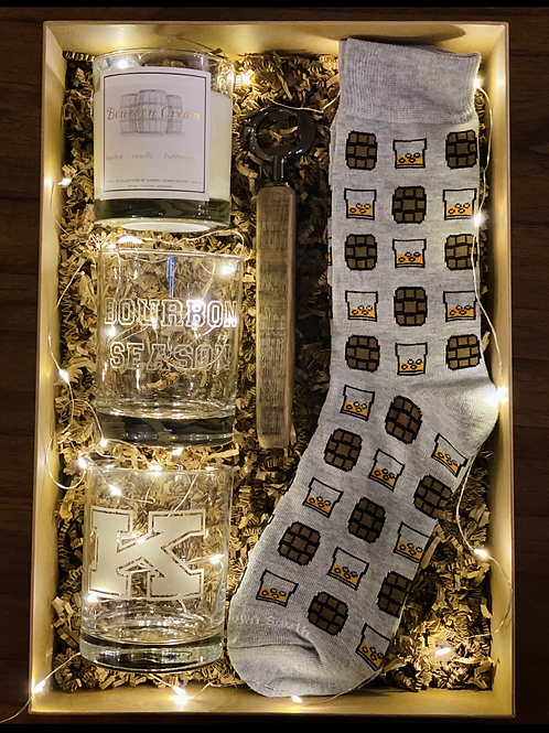 The Bourbon Season - Power K Gift Set - On The Rocks Socks