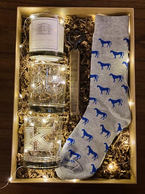 The Bourbon Season - Power K Gift Set with Blue Horse Socks