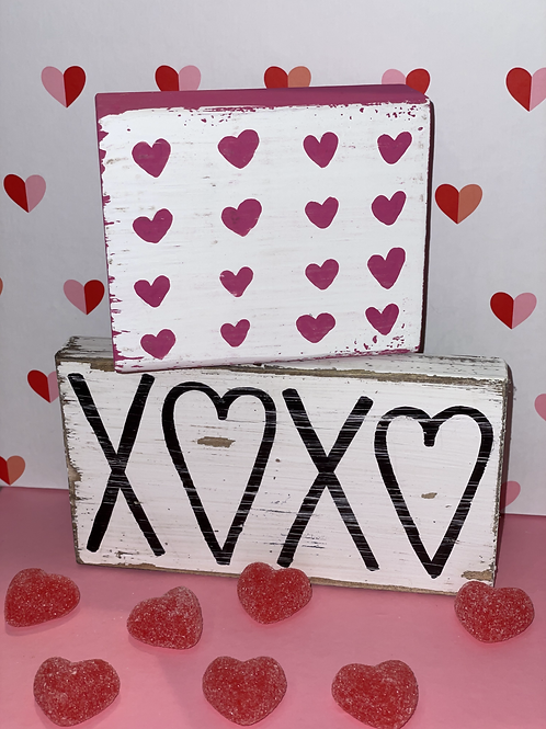 Small Hearts and XOXO Wooden Signs