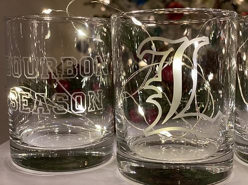 Bourbon Season  and L Rocks Glass Set