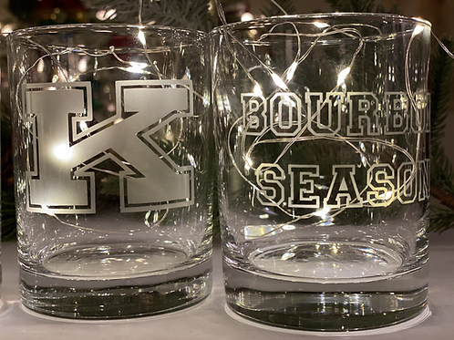 Power K and Bourbon Season Rocks Glasses