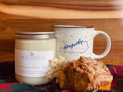 Bourbon Banana Bread Candle - Kentucky Campfire Mug