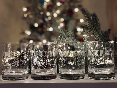 Set of Four - Bourbon Season Rocks Glasses
