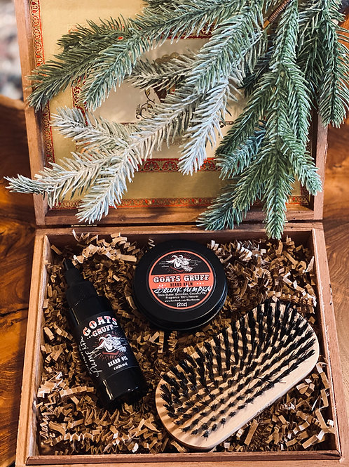 Men's Grooming Gift Set - Drunk Pumpkin with Brush