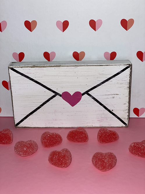Love Letter Wooden Sign