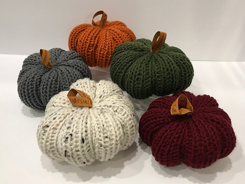 Five Piece Gift Set Large Hand Knitted Pumpkins