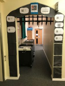 Castle Gateway Display!  Guest post by Miss Mallett (St. Francis of Assisi)