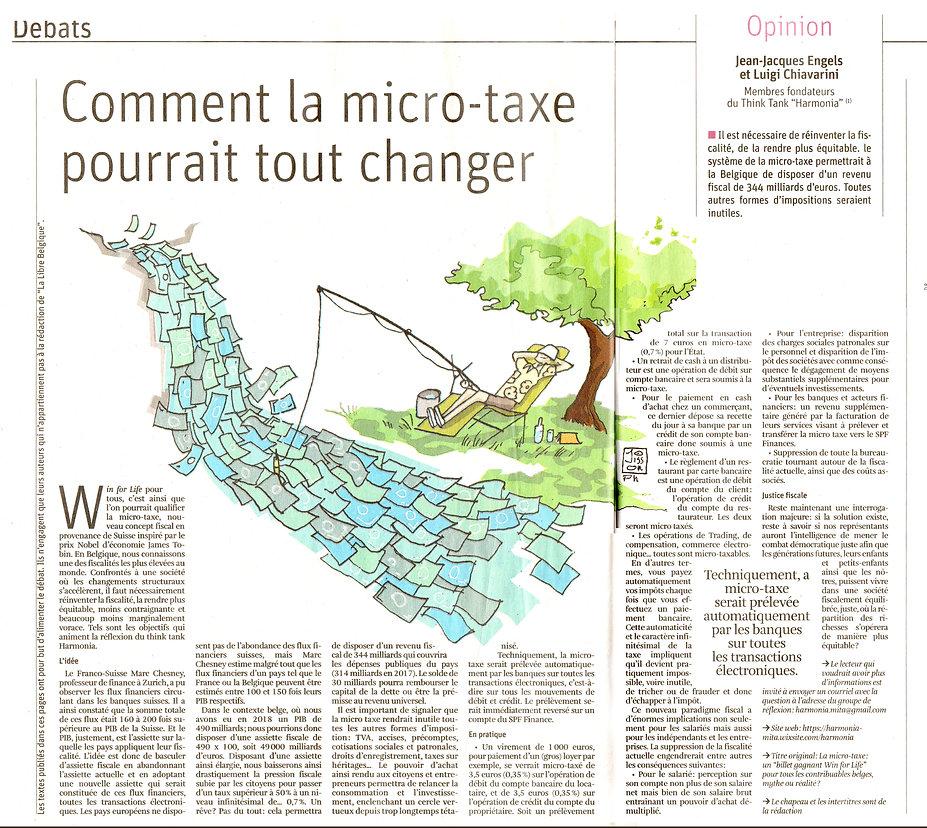 Comment la micro=taxe pourrait tout chan