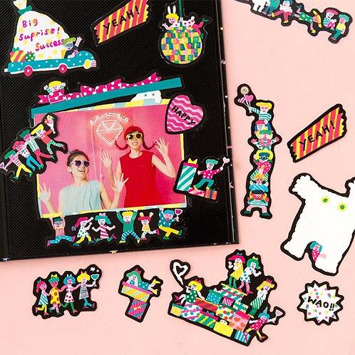日本Aiueo Paper Flake BIG - Night Party (紙藝裝飾)