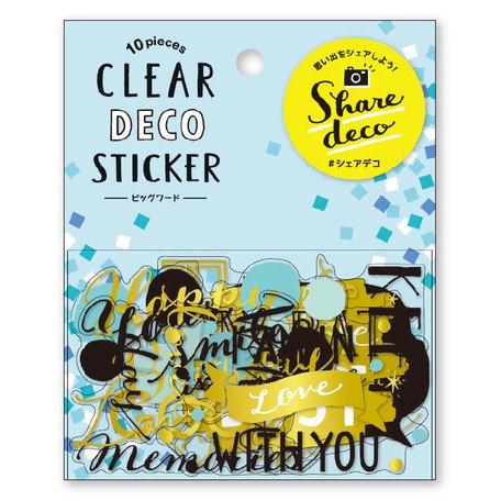 日本MINDWAVE Clear deco stickers - With You 有你