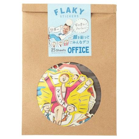 日本Greeting life Flaky stickers - Office 辦公室