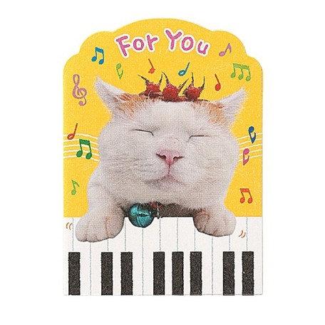 日本Gakken Piano Cat 生日卡 Birthday card