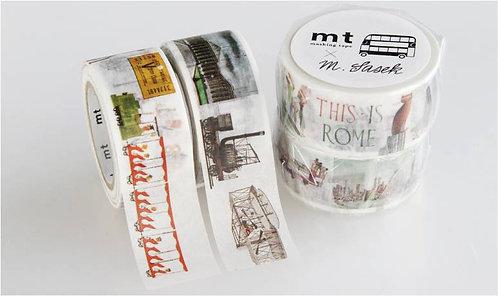 日本masking tape 這裡那裡 This is  燙金和紙膠帶MT