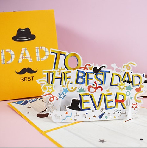Best Dad Ever 最好爸爸 3D立體卡