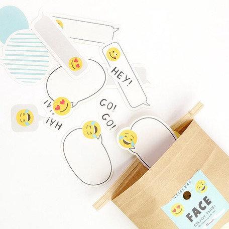 日本Greeting life Flaky stickers - Face 表情包