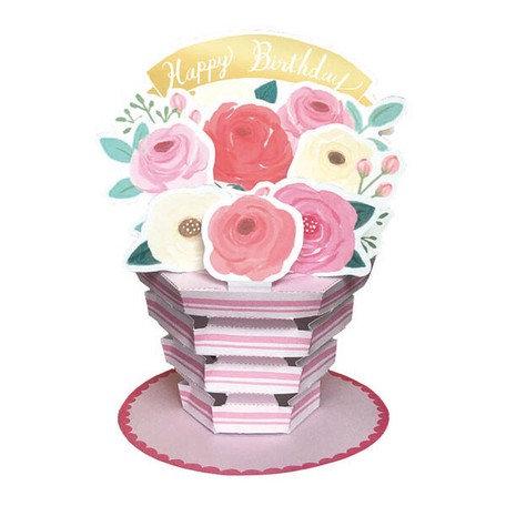 日本Greeting Life - Flower pot card 盆栽卡 - 生日