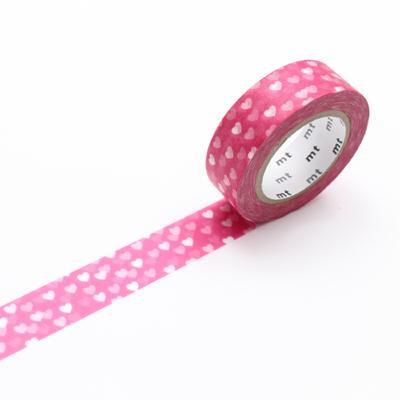 日本masking tape 粉紅心心 Pink Heart 和紙膠帶MT