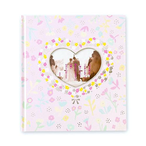 日本AIUEO 黏貼式相簿(大碼) - Floral Heart