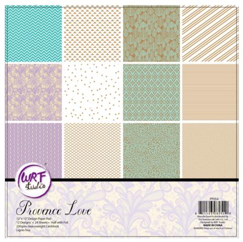 URF Provence Love 30.5cm x 30.5cm 燙金卡紙本