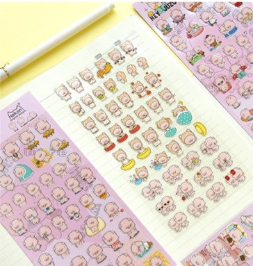 Nekoni日本 粉色小豬貼紙
