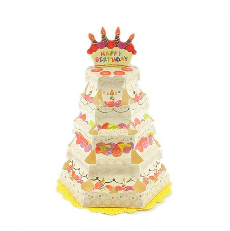 日本Greeting Life - Cake tower card 生日蛋糕塔