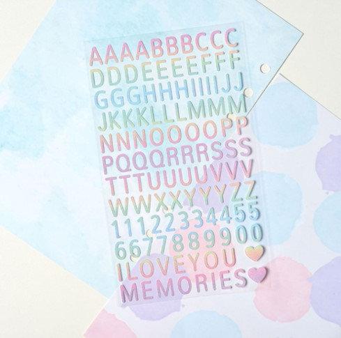MIT - Glitter Alphabets 幻彩字母貼