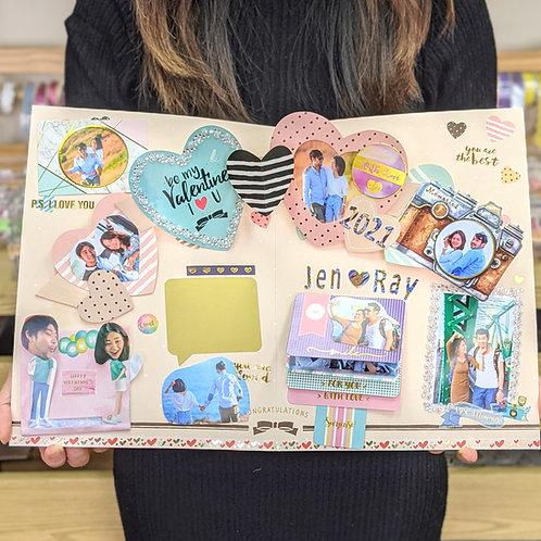 年年月月 情人節主題 DIY機關卡套裝(材料包)