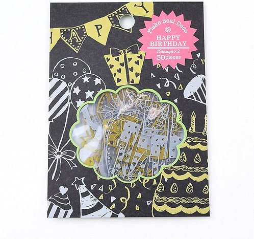 Z&K Japan -  Paper Flake - Golden Birthday (紙藝裝飾)