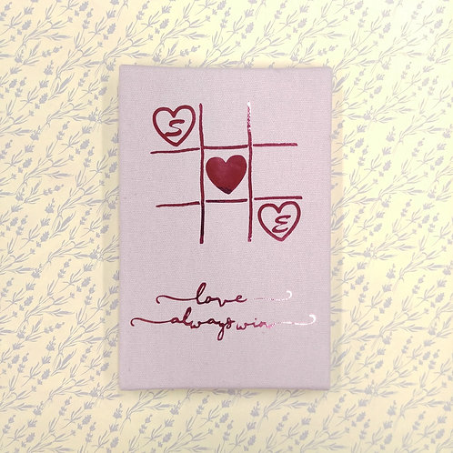 Love Always Win 愛情過三關 - 燙金麻布相簿 - DIY相簿放題