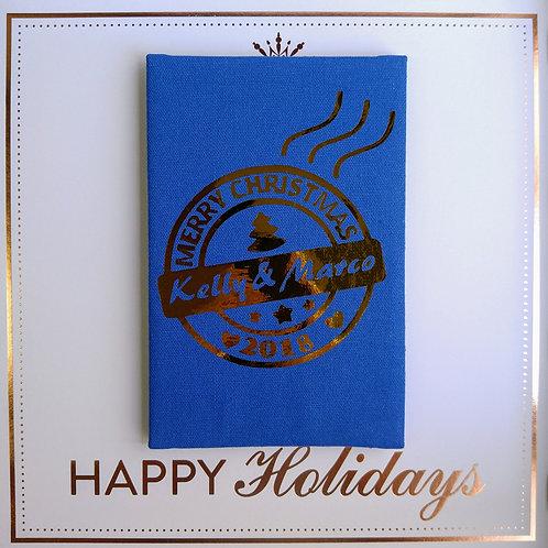 聖誕郵遞 Santa Delivery - 燙金麻布相簿 (外帶聖誕材料包)