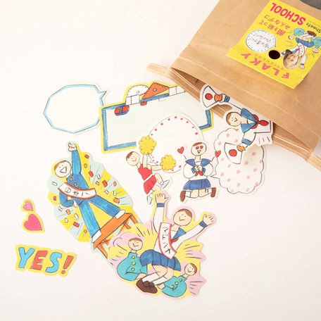 日本Greeting life Flaky stickers - School 學校生活