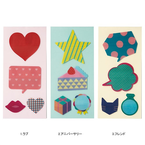 日本Mark's Decora Message Stickers