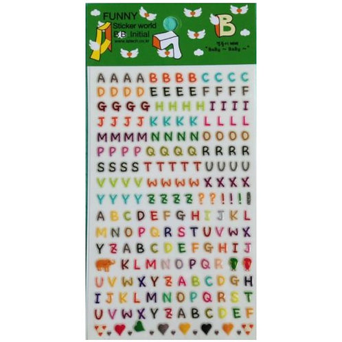 韓國Funny Sticker 字母貼 - BB Alphabet Stickers