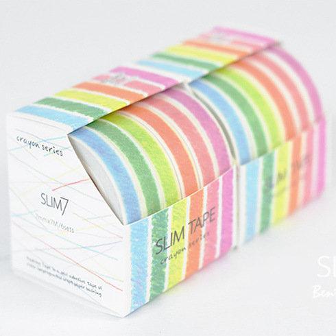 蠟筆小作Slim Tape 彩虹色 和紙MT