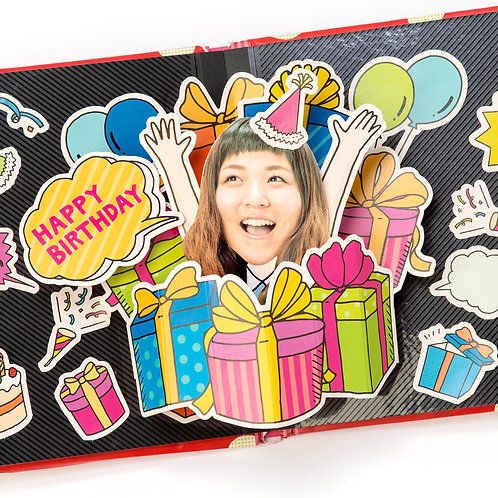 日本AIUEO - Face in Pop-up - Birthday Box