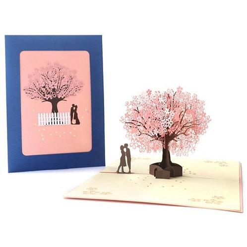 櫻花樹下 Sakura Love 3D立體卡