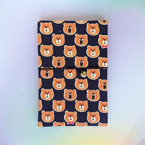 手工和風布藝相簿 - 熊大熊惡 Bear Roar  (外帶生日主題材料包)