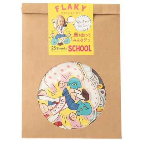 日本Greeting life Flaky stickers - School 學校生活